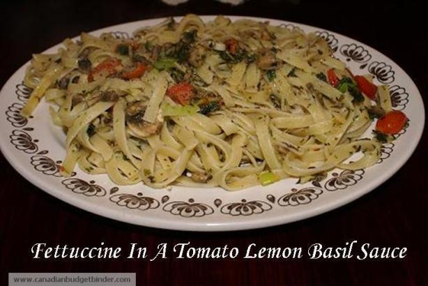 Fettuccine-In-A-Lemon-Basil-Sauce
