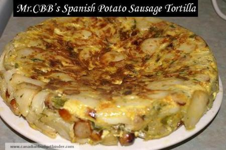 Spanish Potato Sausage Tortilla