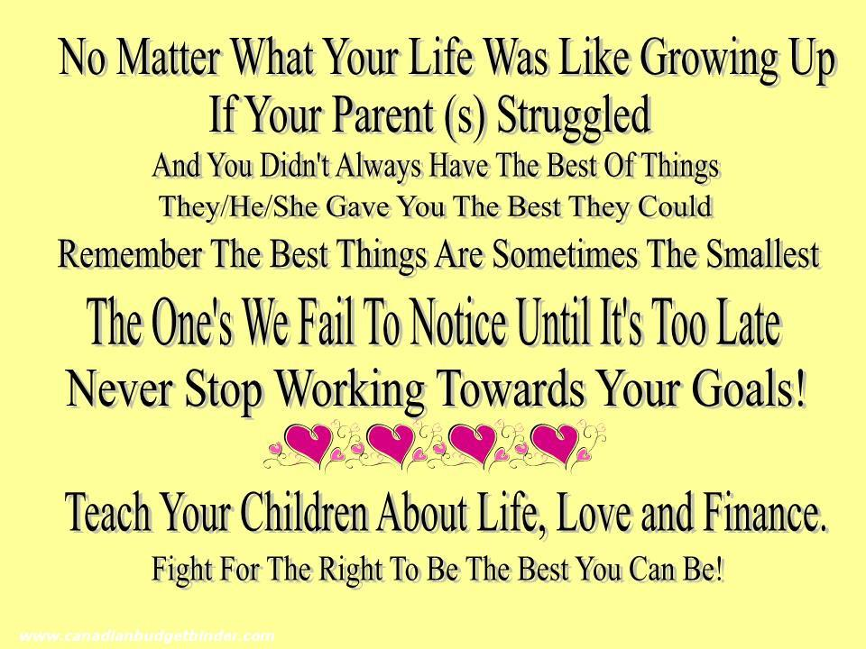 Love Life Finances Quote
