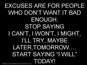 CBB quote- start saying I will