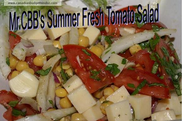 Mr.CBB's Summer Fresh Tomato Salad