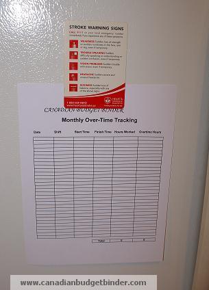 overtime tracking sheet