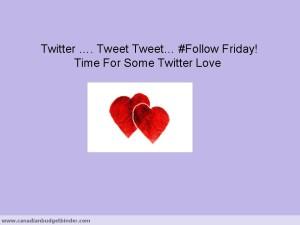 Twitter follow friday tweet tweet