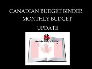Canadian Budget Binder Family Budget Update