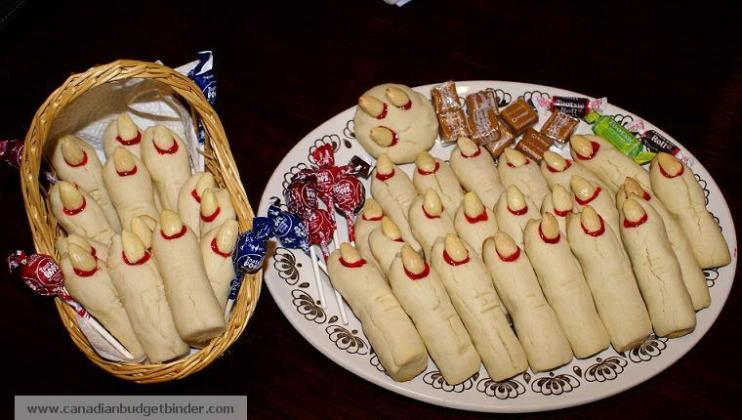 Halloween Scary Witch Finger Cookies
