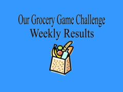 Grocery Game Challenge Results