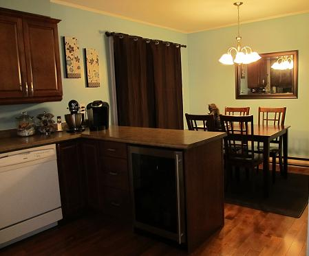 New Dark Wood Kitchen