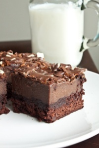 Found on Pinterest- Chocolate Mousse Brownie