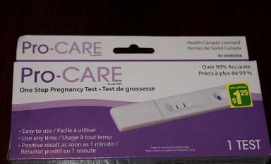 Dollar Store Home Pregnancy Test
