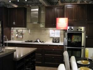 model kitchen dark wood IKEA