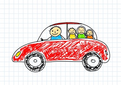 car with kids