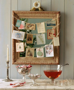 Martha Stewart cards on mirror