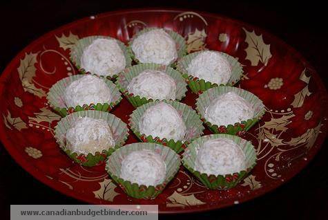 Mr.CBB's Holiday Snowballs In Wrappers on A Tray