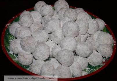 Mr.CBB's Holiday Snowballs On A Tray