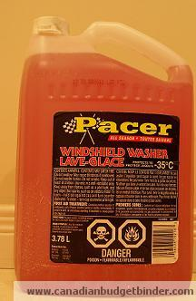 Winter Windshield Washer Fluid