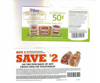 Fruit and Vegetable Coupons Canada 2013