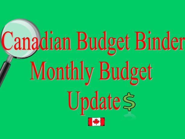 Canadian Budget Binder Monthly Budget Update