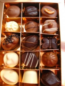 Valentine's Day Chocolates in a box