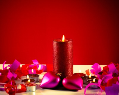 Romantic Candle Centrepiece Valentine's Day
