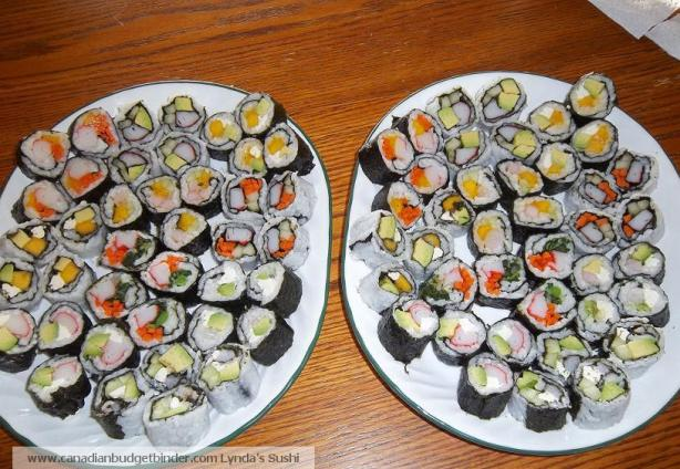 Homemade Sushi Canadian Budget Binder