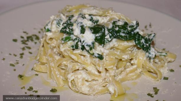 Ricotta and Spinach Pasta