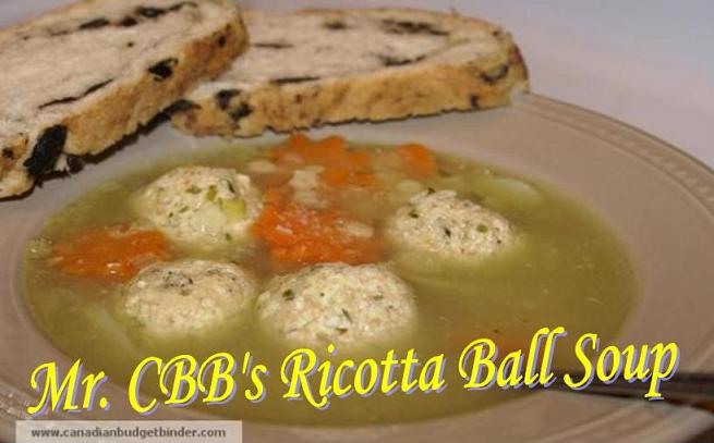Mr.CBB's Ricotta Ball Soup
