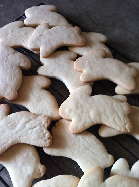 Easter Bunny Butter Shortbread Baked