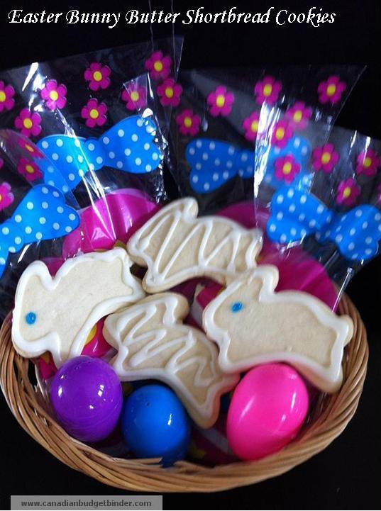 Easter Bunny Butter Shortbread Cookies