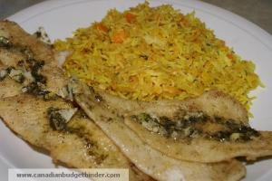 Good Friday Fish with Rice and Lentils