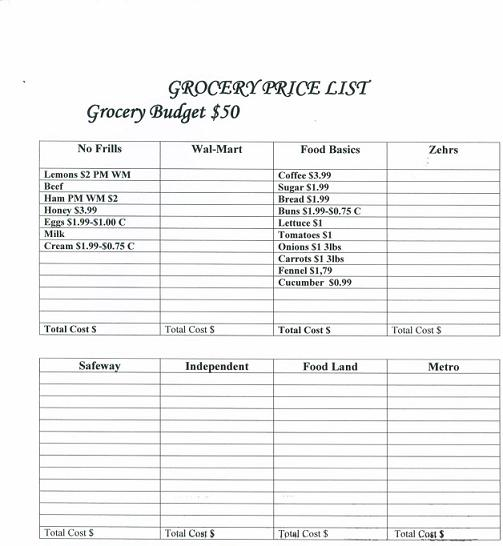 the grocery game challenge  13 march 25- 31 2013- how to grocery shop