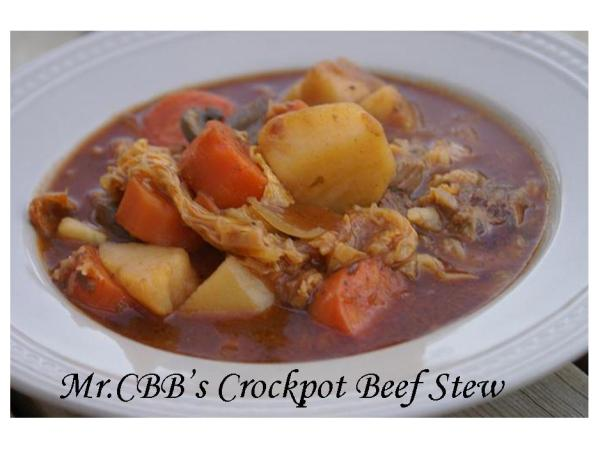 Mr.CBB's Crock-Pot Beef Stew