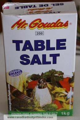 Table Salt Sodium
