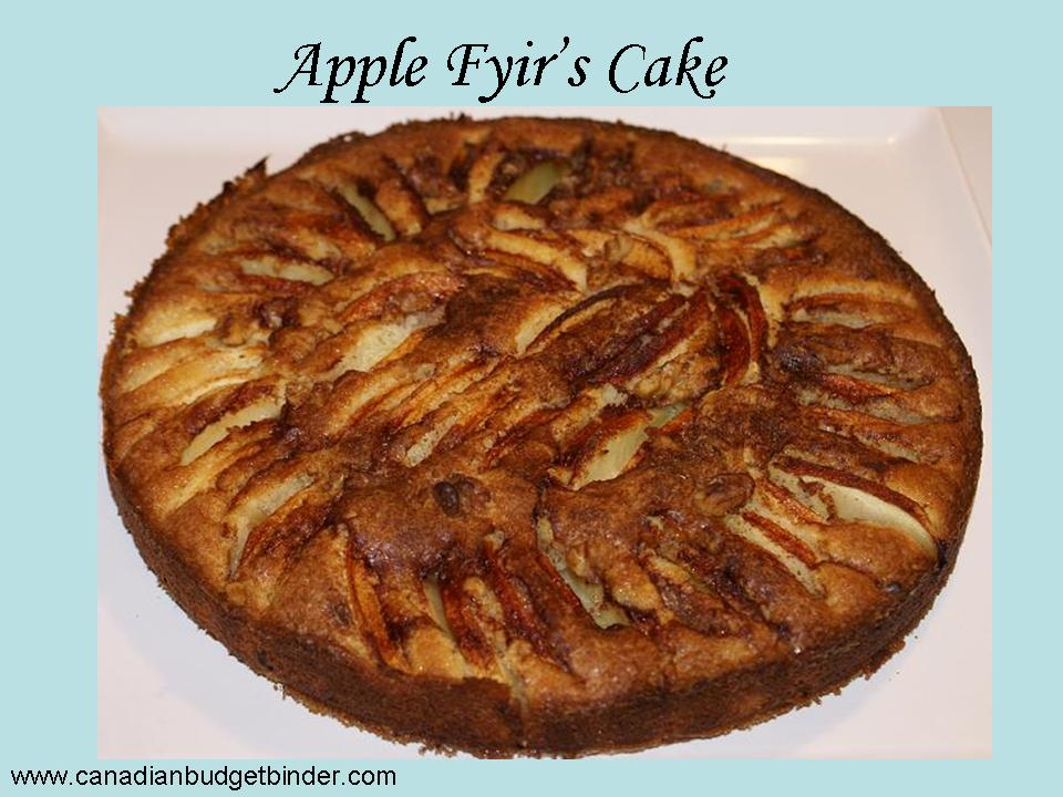 Apple Fyir's Cake