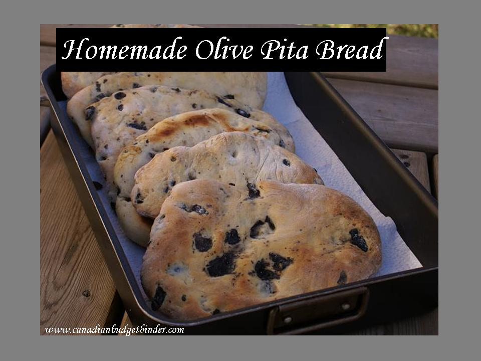 Homemade Olive Pita Bread