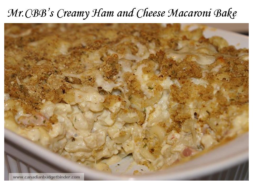 Creamy Ham and Cheese Macaroni Bake