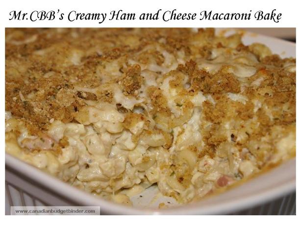 Creamy Ham and Cheese Macaroni Bake