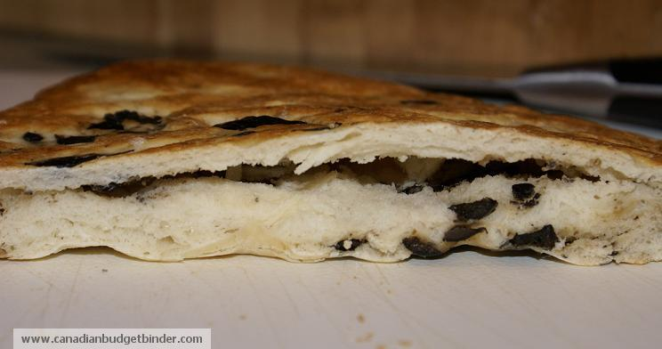 Homemade Olive Pita Pocket