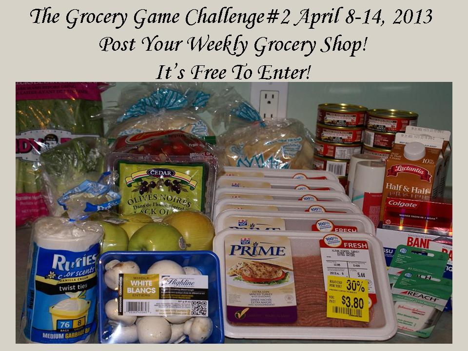 The Grocery Game Challenge #2 April 8-11, 2013