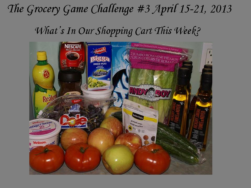 The Grocery Game Challenge #3 April 15-21, 2013- Can Your