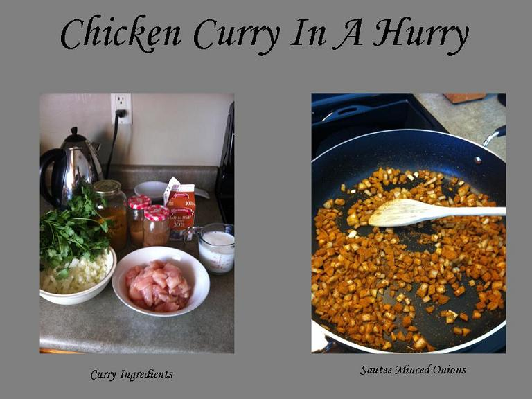 Chicken Curry In A Hurry 1
