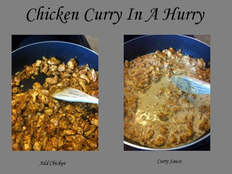 Chicken Curry In A Hurry 4