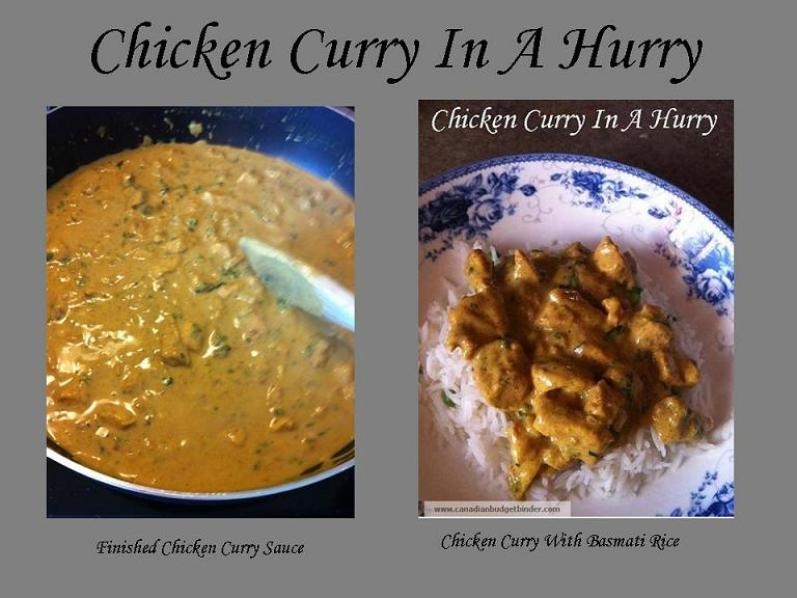 Chicken Curry In A Hurry 5