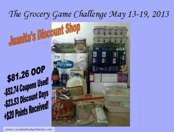 Juanitas Grocery Game Challenge Discount Days May 13-19 2013