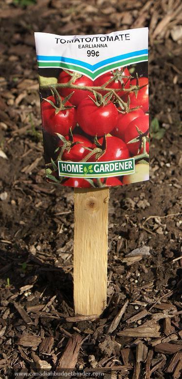 Label Vegetables In Garden