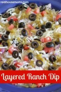 layered ranch dip
