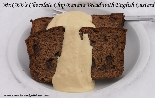Mr.CBB's Chocolate Chip Banana Bread with English Custard