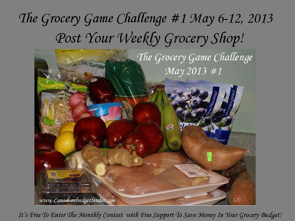 The Grocery Game Challenge Post Your Weekly Grocery Shop 1 May 2013