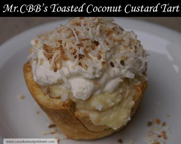 Toasted Coconut Custard Tart Mr.CBB