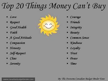 Top 20 Things Money Can't Buy v.2 wm
