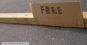 Free Fence Post